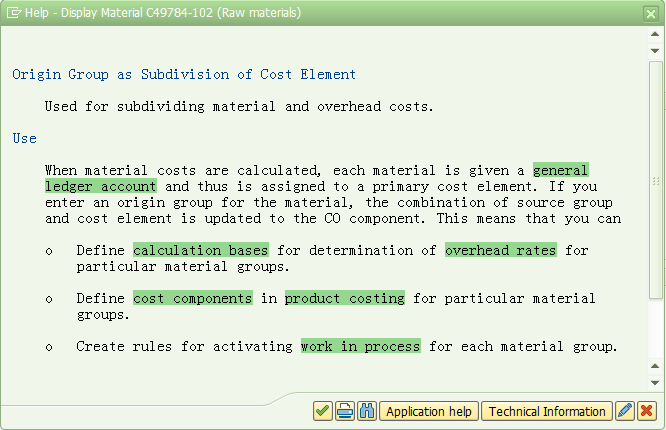SAP中物料成本视图原始组的应用原理分析